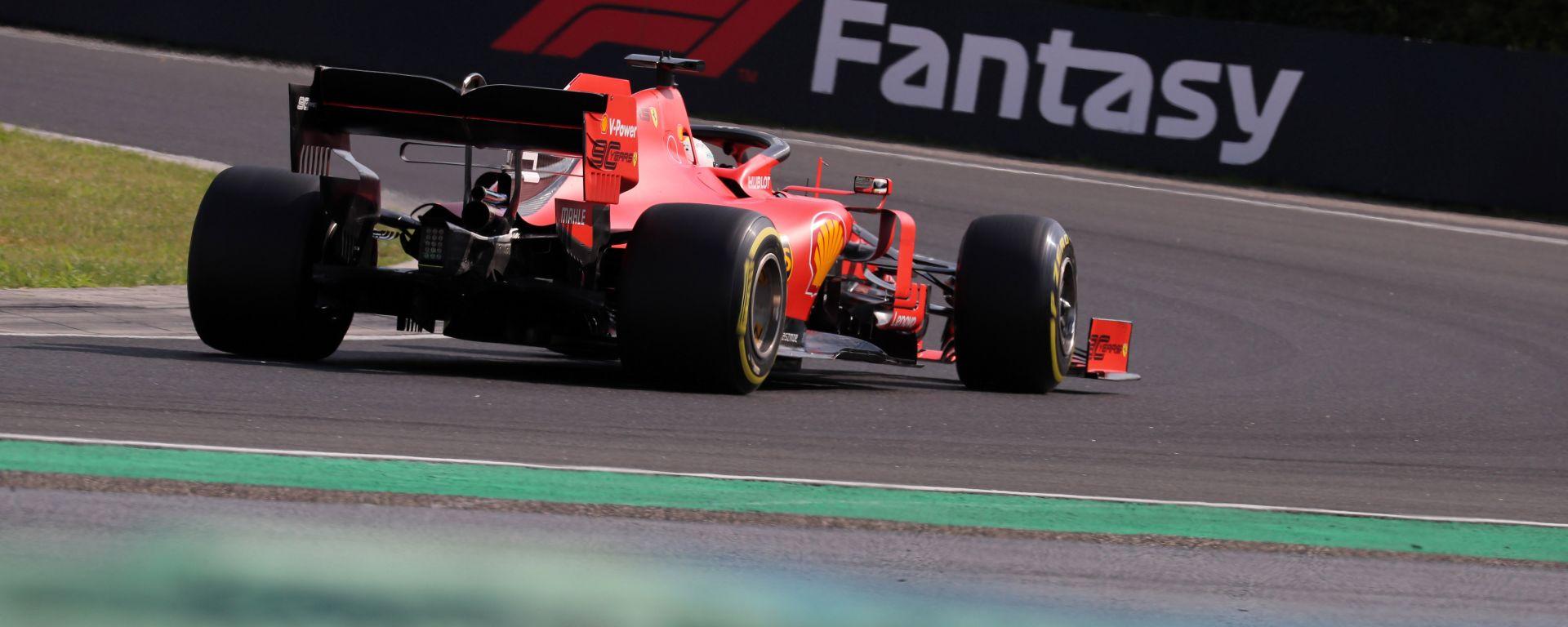 F1 GP Ungheria 2019, Budapest: Sebastian Vettel (Ferrari) in curva-13