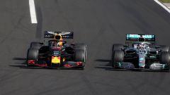 F1 GP Ungheria 2019, Budapest: Verstappen (Red Bull) e Hamilton (Mercedes) in pista