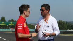 F1 GP Ungheria 2019, Charles Leclerc a colloquio con il direttore di gara Michael Masi