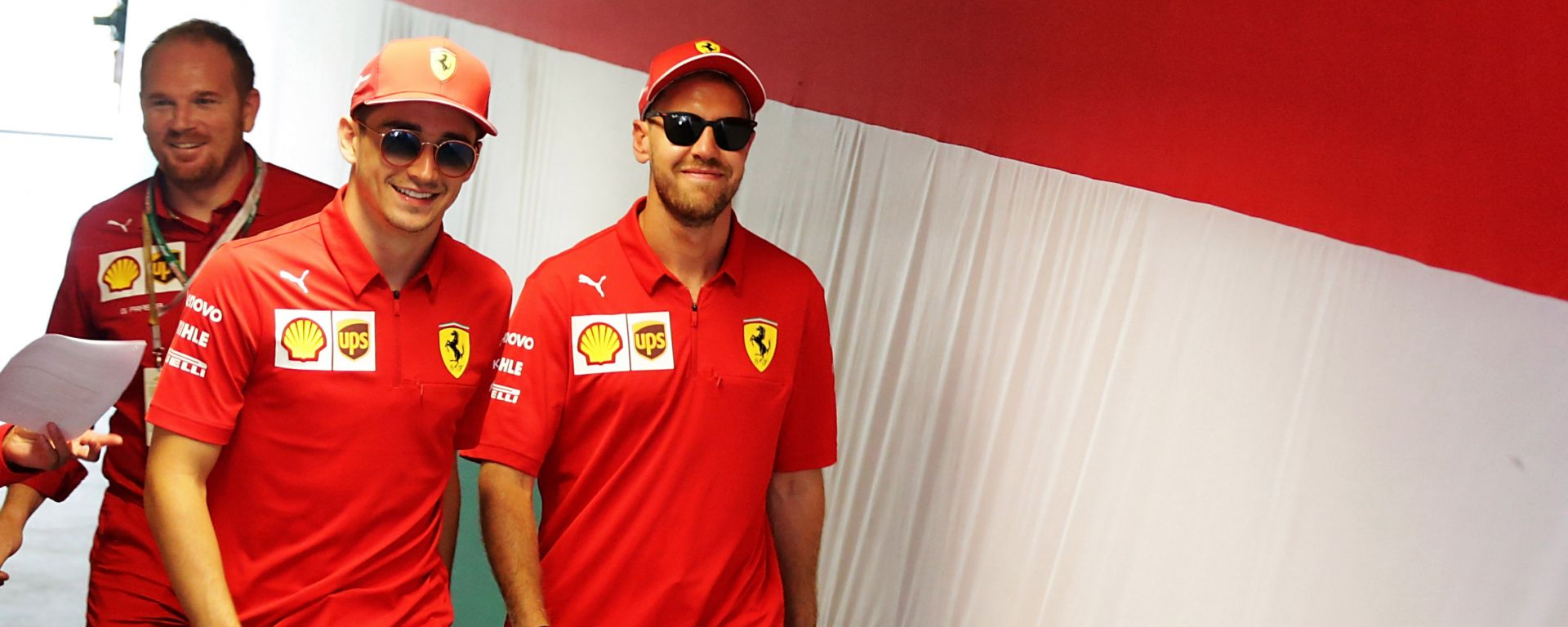 F1 GP Ungheria 2019, Charles Leclerc e Sebastian Vettel (Ferrari)