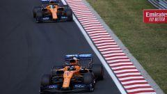 F1 GP Ungheria 2019, Hungaroring, Lando Norris e Carlos Sainz (McLaren)