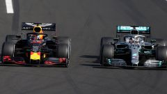 F1 GP Ungheria 2019, Hungaroring: Max Verstappen (Red Bull) e Lewis Hamilton (Mercedes)