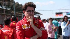 F1 GP Ungheria 2019, Mattia Binotto (Ferrari) sulla griglia di partenza