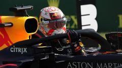 F1 GP Ungheria 2019, Max Verstappen (Red Bull) celebra la pole position