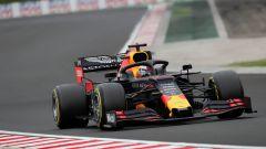 F1 GP Ungheria 2019, Max Verstappen (Red Bull) con gomme d'asciutto a inizio PL2