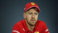 F1 GP Ungheria 2019, Sebastian Vettel (Ferrari) in conferenza stampa