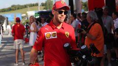 F1 GP Ungheria 2019, Sebastian Vettel (Ferrari) nel paddock