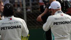 F1 GP Ungheria 2019, Valtteri Bottas e Lewis Hamilton (Mercedes)