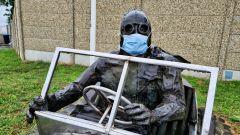F1 GP Ungheria 2020, Budapest: anche le statue portano le mascherine all'Hungaroring