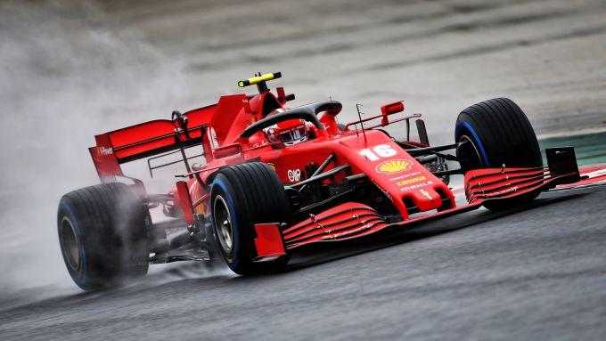 F1 GP Ungheria 2020, Budapest: Charles Leclerc (Ferrari) sul bagnato