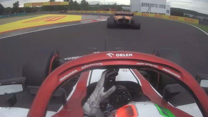 F1 GP Ungheria 2020, Budapest: Giovinazzi (Alfa Romeo) con Sainz (McLaren) in Q1