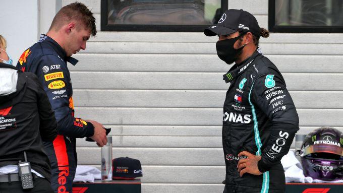 F1 GP Ungheria 2020, Budapest: Max Verstappen (Red Bull) e Lewis Hamilton (Mercedes)