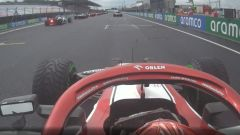 F1 GP Ungheria 2020, Budapest: Raikkonen (Alfa Romeo) fuori posizione in partenza