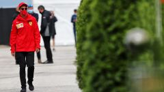 F1 GP Ungheria 2020, Budapest: Sebastian Vettel (Ferrari) nel paddock