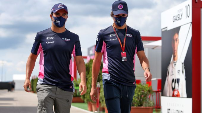 F1, GP Ungheria 2020: i piloti della Racing Point, Sergio Perez e Lance Stroll