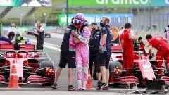 F1, GP Ungheria 2020: Lance Stroll (Racing Point) festeggia il terzo tempo in qualifica
