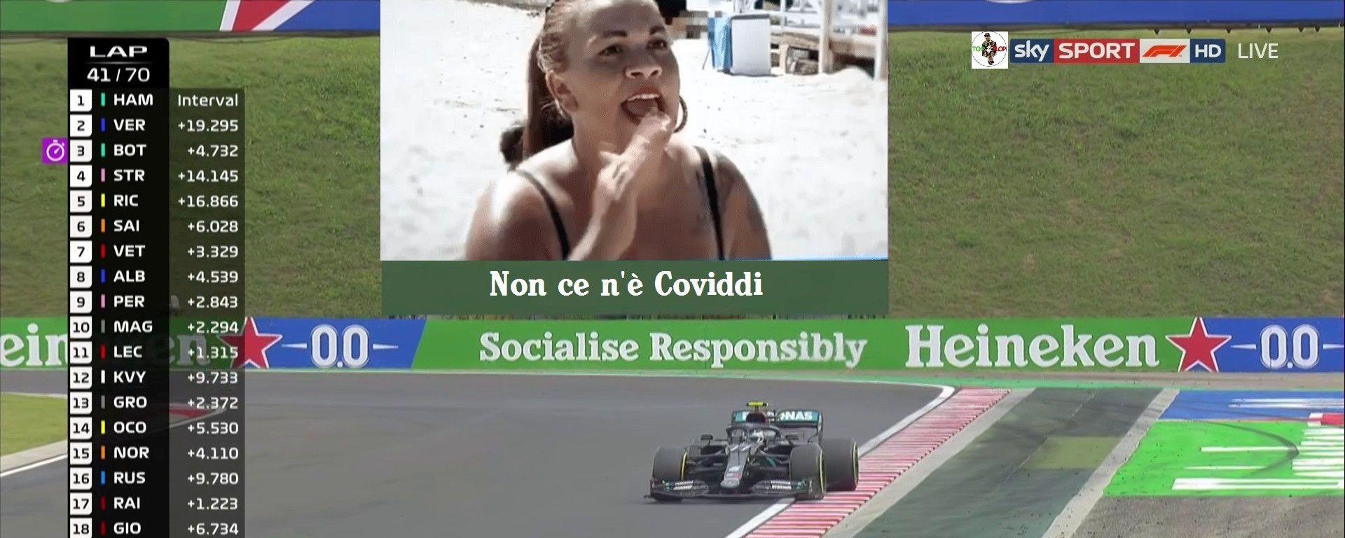 F1, GP Ungheria 2020: saluti da Mondello