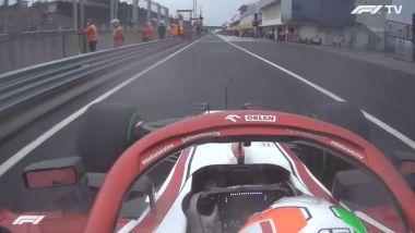 F1 GP Ungheria 2021, Budapest: Antonio Giovinazzi (Alfa Romeo) infrange il limite di velocità