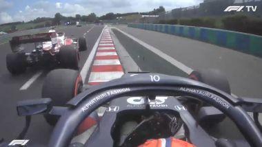 F1 GP Ungheria 2021, Budapest: Gasly (AlphaTauri) ostacolato nelle PL3 da Giovinazzi (Alfa Romeo)
