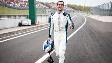 F1 GP Ungheria 2021, Budapest: Nicholas Latifi (Williams Racing) esulta per i primi punti della carriera