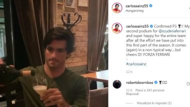 F1, GP Ungheria 2021: Carlitos in smart drinking