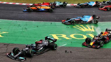 F1, GP Ungheria 2021: il caos al via