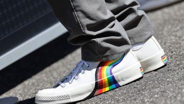 F1, GP Ungheria 2021: le scarpe di Sebastian Vettel