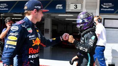 F1, GP Ungheria 2021: Max Verstappen e Lewis Hamilton