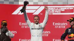 F1 GP Usa 2019, Austin: Valtteri Bottas (Mercedes) sul gradino più alto del podio