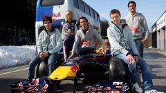 F1, i tanti volti del Red Bull Junior Team nel 2010. Da sinistra a destra:Sainz, Hartley, Vergne, Kvyat e Ricciardo