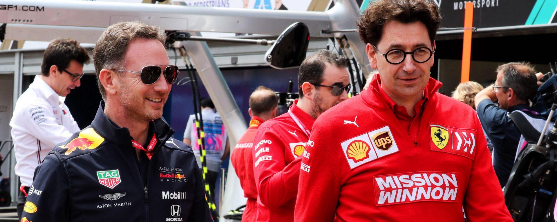 F1: i team principal Chris Horner (Red Bull) e Mattia Binotto (Ferrari)