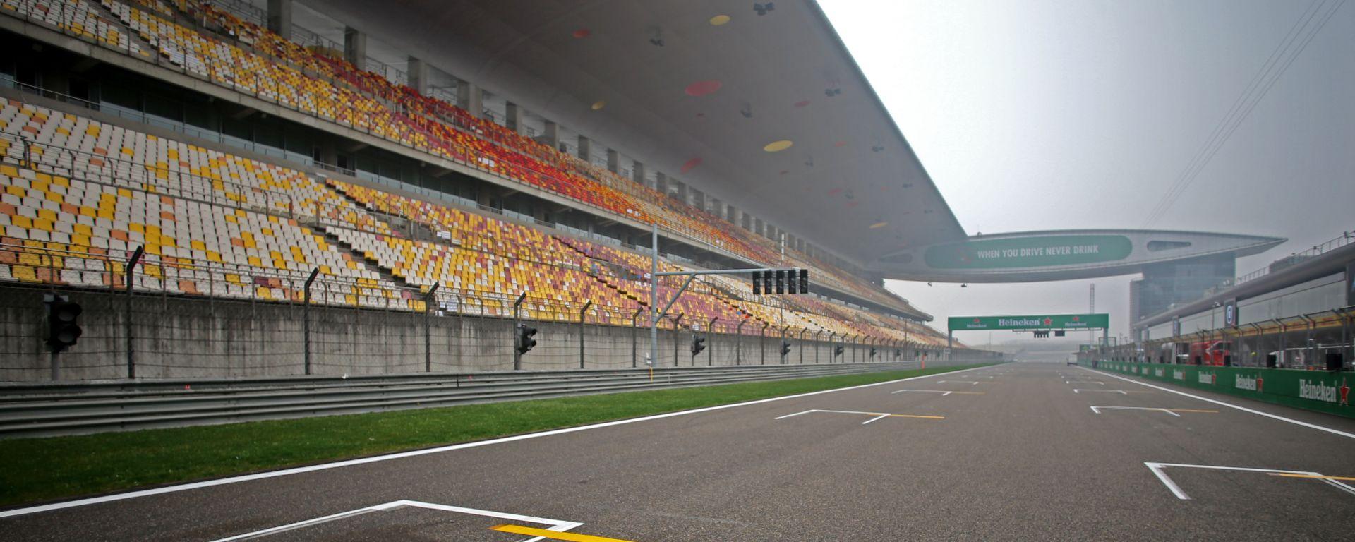 F1: il circuito di Shanghai, sede del GP Cina