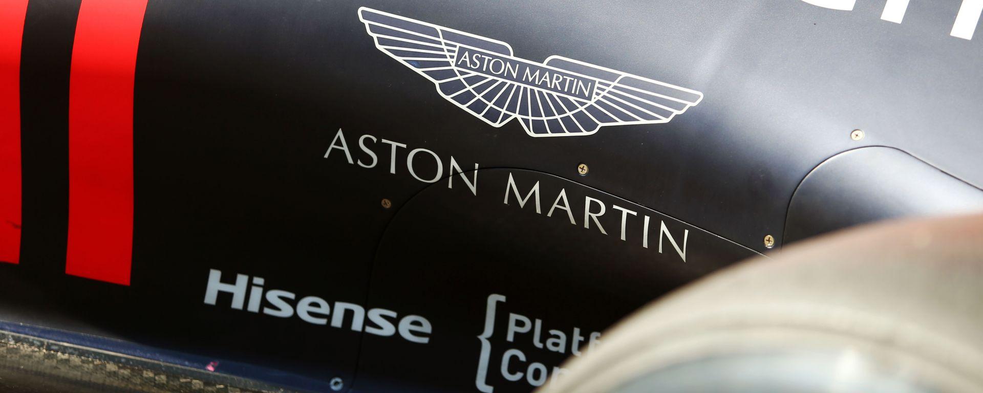 F1, il logo Aston Martin sulla fiancata della Red Bull Racing