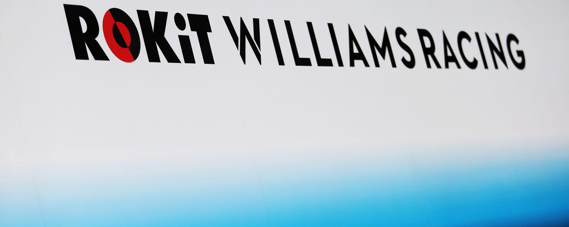 F1, il logo della Williams prima della perdita dello sponsor ROKiT