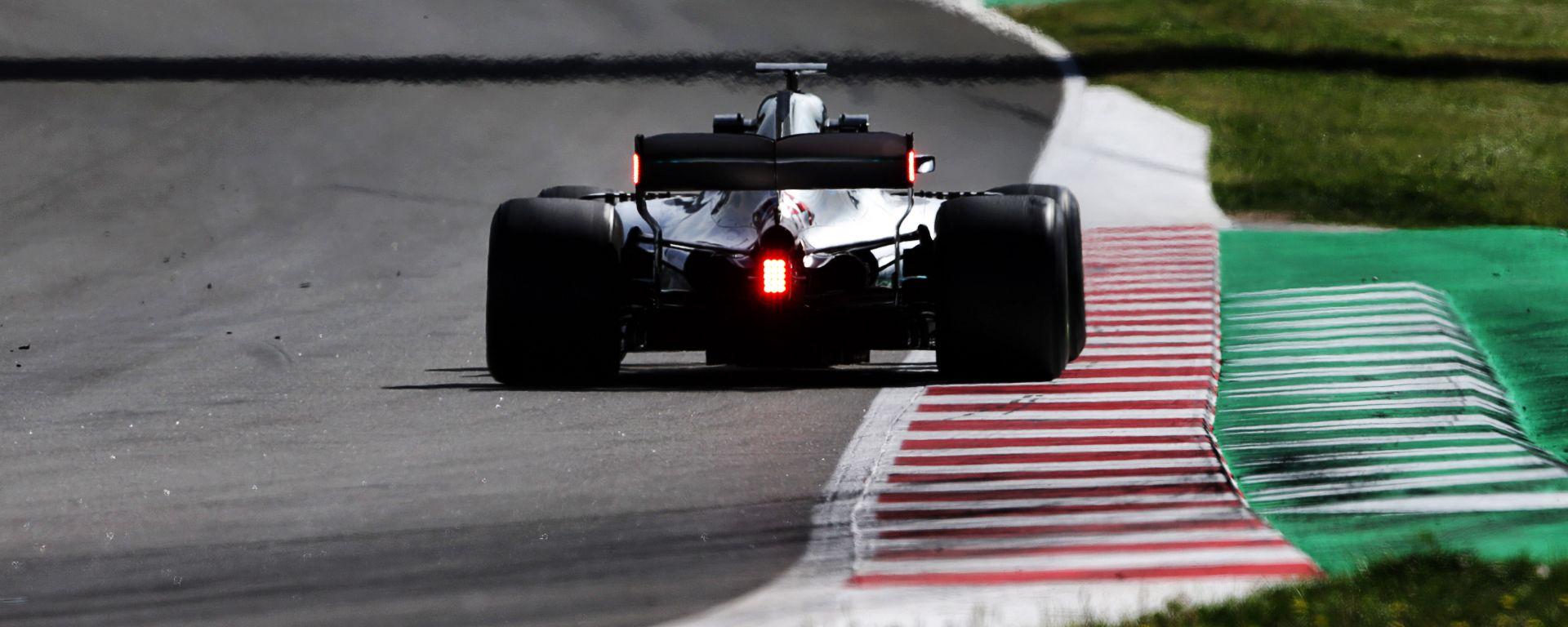F1: il retrotreno della Mercedes W09 del 2018