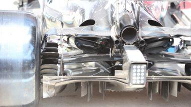 F1, il retrotreno della Mercedes W10 iridata nel 2019 con Hamilton e Bottas