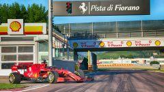 F1, La Ferrari SF1000 sulla pista di Fiorano