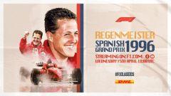 F1, la locandina del Gp di Spagna 1996 su YouTube