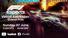 F1, la locandina del Virtual GP di Azerbaijan 2020