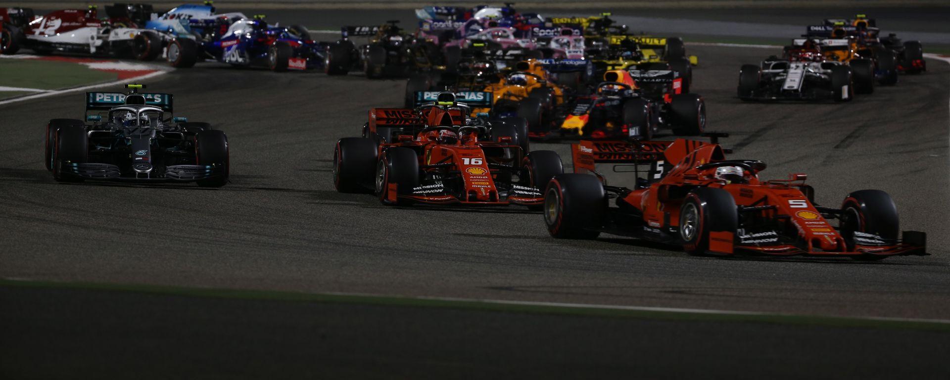 F1, la partenza del Gp Bahrain 2019