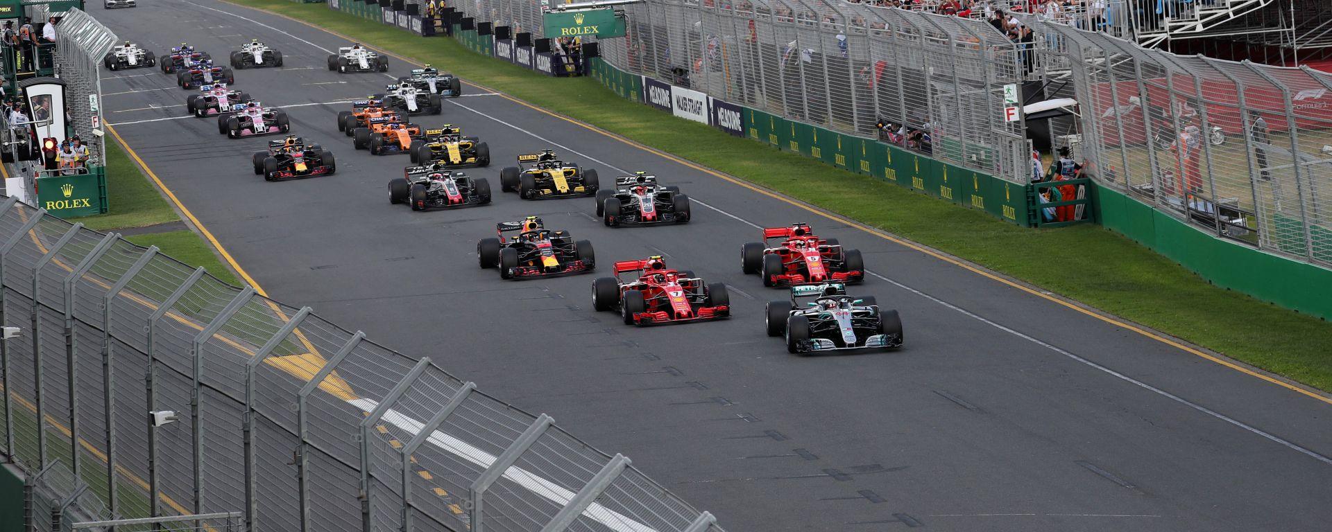 F1, la partenza del Gran Premio d'Australia 2018