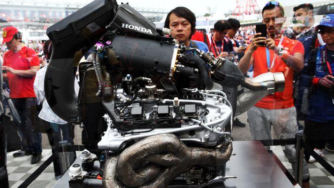 F1, la power unit Honda esposta per i tifosi del Gp Giappone 2018