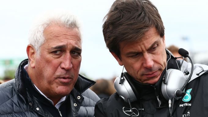 F1: Lawrence Stroll (Racing Point) e Toto Wolff (Mercedes)