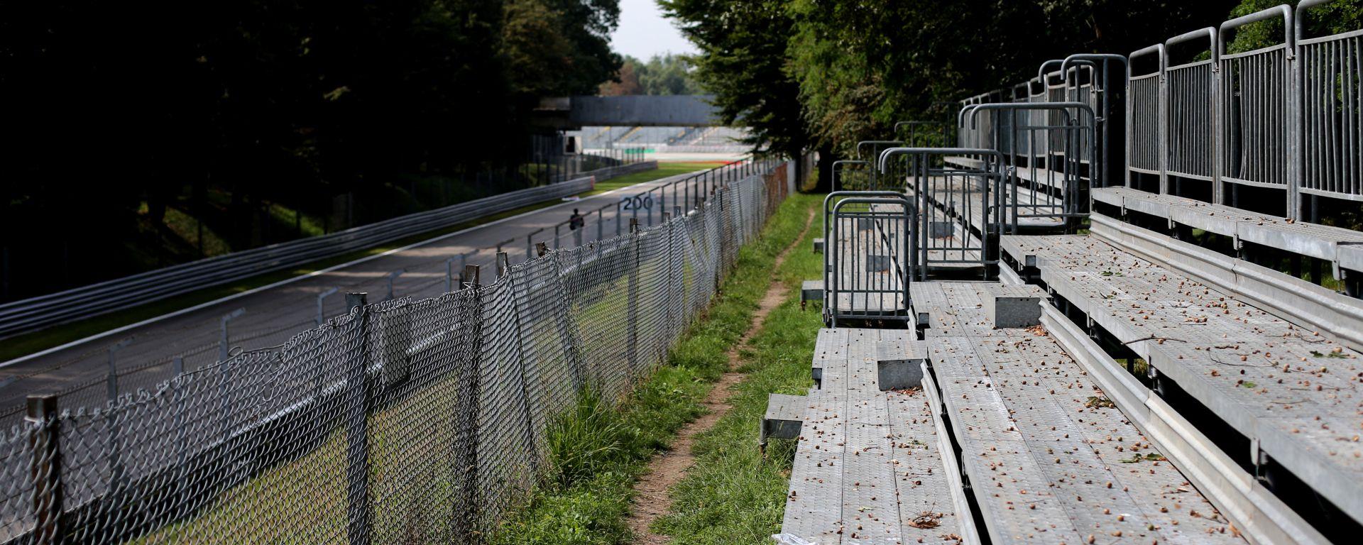 F1: le tribune vuote dell'Autodromo di Monza