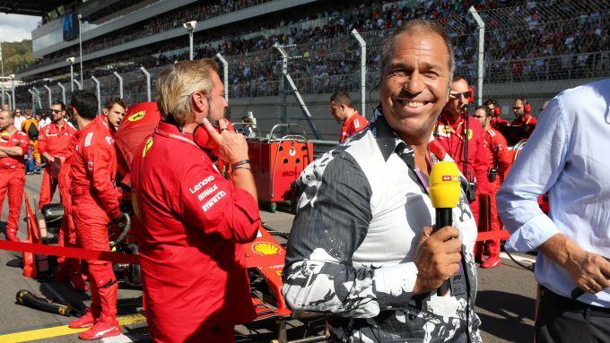 F1, l'eccentrico presentatore della tv tedesca RTL, Kai Ebel