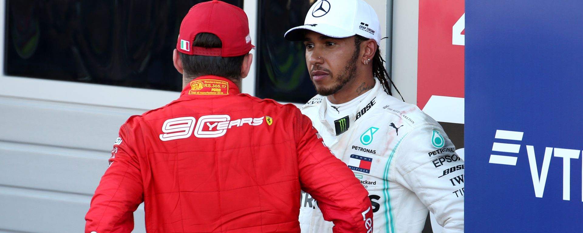 F1: Lewis Hamilton (Mercedes) e Charles Leclerc (Ferrari)