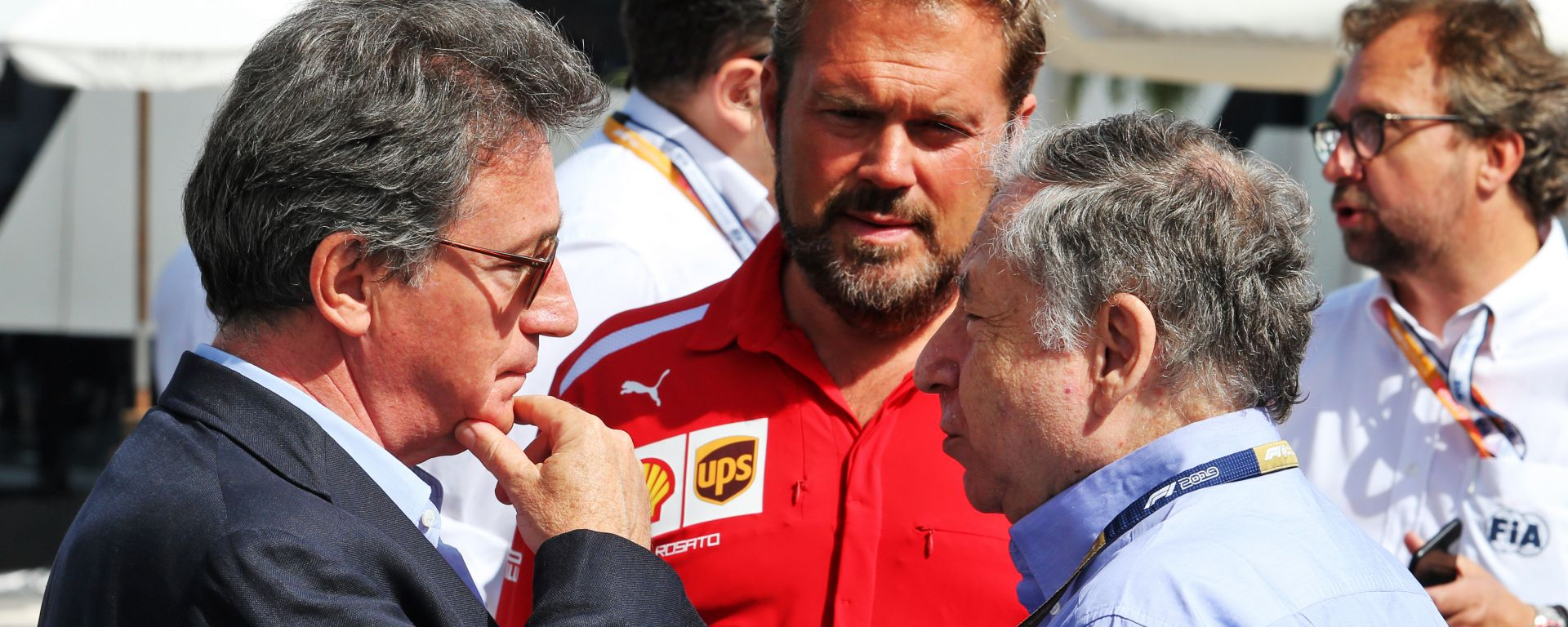 F1: Louis Camilleri, CEO Ferrari, con Jean Todt, presidente della FIA