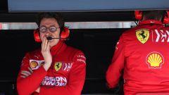 F1, Mattia Binotto al muretto Ferrari