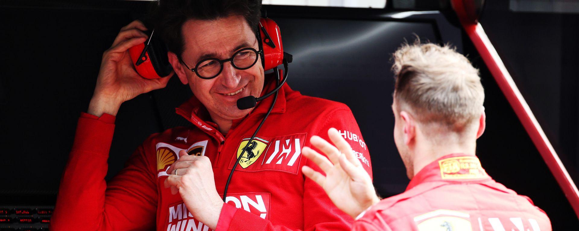 F1: Mattia Binotto e Sebastian Vettel (Ferrari)