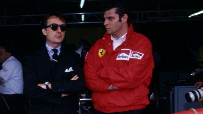 F1, Maurizio Arrivabene e Luca Cordero di Montezemolo nel 1995